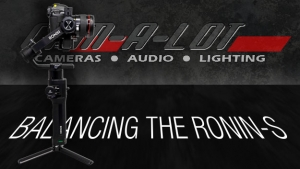 Steps to Balance the DJI Ronin-S